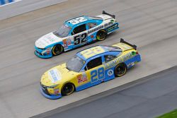 J.J. Yeley, JGL Racing Toyota and Joey Gase, Jimmy Means Racing Chevrolet