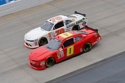 Harrison Rhodes, JD Motorsports Chevrolet and Derrike Cope, Derrike Cope Racing Chevrolet