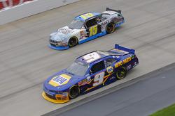 Chase Elliott, JR Motorsports Chevrolet and Stanton Barrett, Ford
