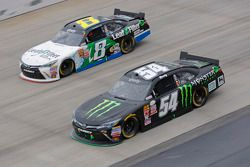 Kyle Busch, Joe Gibbs Racing Toyota and Blake Koch, TriStar Motorsports Toyota