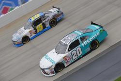 Denny Hamlin, Joe Gibbs Racing Toyota and Stanton Barrett, Ford