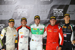 Pole position : Marco Seefried et Norbert Siedler, Rinaldi Racing avec Stéphane Richelmi, Belgian Audi Club Team, Marko Asmer, GT Russian Team et Jeroen Mul, GRT Grasser Racing Team