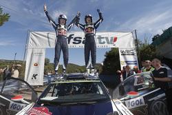 Les vainqueurs Jari-Matti Latvala et Miikka Anttila, Volkswagen Polo WRC, Volkswagen Motorsport