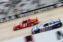 Landon Cassill, JD Motorsports Chevrolet and Eric McClure, JGL Racing Toyota