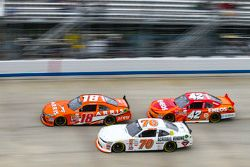 Daniel Suarez, Joe Gibbs Racing Toyota and Derrike Cope, Derrike Cope Racing Chevrolet and Kyle Larson, HScott Motorsports Chevrolet