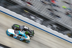 Joey Gase, Jimmy Means Racing Chevrolet and Kyle Busch, Joe Gibbs Racing Toyota