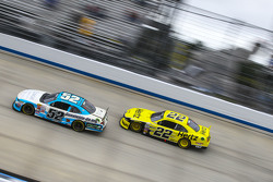 Joey Gase, Jimmy Means Racing Chevrolet and Ryan Blaney, Team Penske Ford