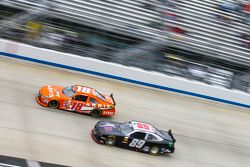 Daniel Suarez, Joe Gibbs Racing Toyota and Morgan Shepherd
