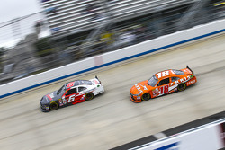 Darrell Wallace Jr., Roush Fenway Racing Ford and Daniel Suarez, Joe Gibbs Racing Toyota