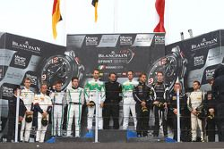 Podium: winners Marco Seefried, Norbert Siedler, Rinaldi Racing, second place Maximilian Buhk, Vince