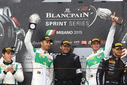 Podium: winners Marco Seefried, Norbert Siedler, Rinaldi Racing