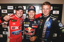 Podio: il vincitore Timmy Hansen, Team Peugeot Hansen, al secondo posto Andreas Bakkerud, Olsbergs M