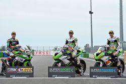 Jonathan Rea, Kawasaki Racing Team, Kenan Sofuoglu et Toprak Razgatlioglu, Kawasaki Puccetti Racing