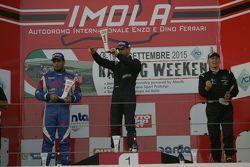 Podio Gara 2: il vincitore Giorgio Mondini, Eurointernational, il secondo classificato Danny Molinar