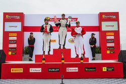 TP podium race 1: winner Gregory Romanelli, second place Wei Lu, third place Ziad Ghandour