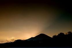 Coucher de soleil sur le Fuji Speedway