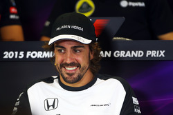 Fernando Alonso, McLaren in de FIA persconferentie