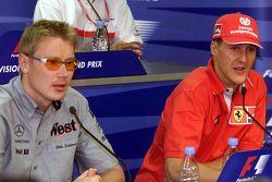 Mika Hakkinen, McLaren and Michael Schumacher, Ferrari