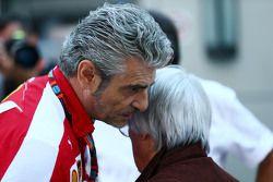 Maurizio Arrivabene, Ferrari teambaas en Bernie Ecclestone