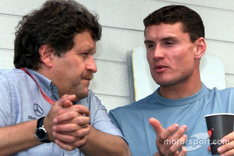 Norbert Haug y David Coulthard, McLaren
