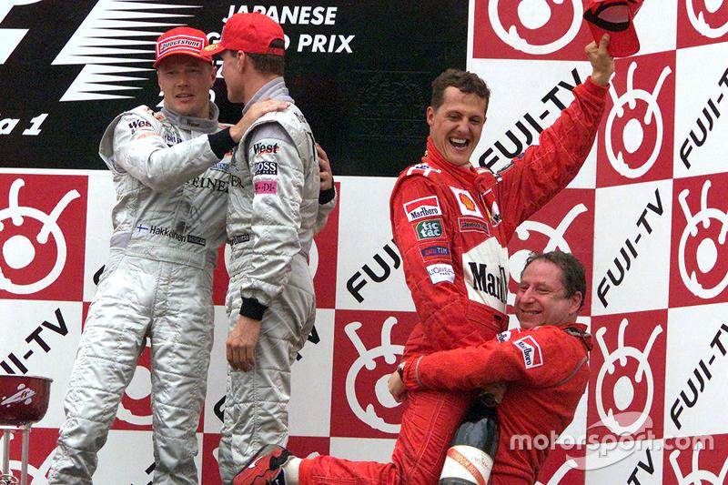 2000 Podium: 1. Мichael Schumacher, Ferrari. 2. Міka Hakkinen, McLaren-Mercedes. 3. David Coulthard, McLaren-Mercedes