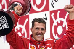 Race winner and 2000 World Champion Michael Schumacher, Ferrari