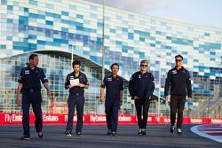 Marcus Ericsson, Sauber F1 Team, beim Trackwalk