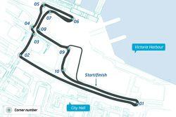 ePrix di Hong Kong, layout del circuito