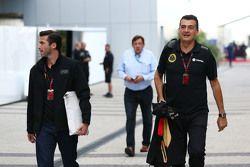 (L to R): Matthew Carter, Lotus F1 Team CEO with Federico Gastaldi, Lotus F1 Team Deputy Team Princi