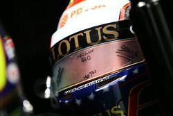 Le casque de Pastor Maldonado, Lotus F1 Team