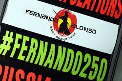 El equipo McLaren celebra 250 Grand Prix para Fernando Alonso, McLaren
