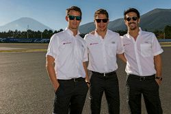 Oliver Jarvis, Loïc Duval, Lucas di Grassi, Audi Sport Team Joest
