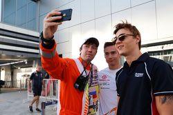 Artem Markelov, RUSSIAN TIME e il pilota GP3 Konstantin Tereshchenko, Campos Racing
