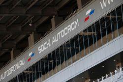 Sochi Autodrom grandstand.