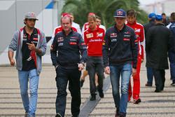 Carlos Sainz Jr., Scuderia Toro Rosso, and team mate Max Verstappen, Scuderia Toro Rosso,