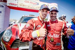 Winners #300 Mini: Nasser Al-Attiyah and Matthieu Baumel celebrate