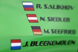 Rinaldi Racing drive names detail