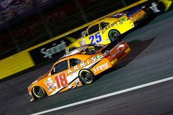 Daniel Suarez, Joe Gibbs Racing Toyota and John Wes Townley, Athenian Motorsports Chevrolet