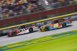 Austin Dillon, Richard Childress Racing Chevrolet and Erik Jones, Joe Gibbs Racing Toyota