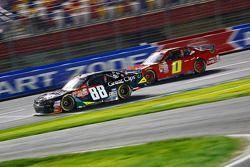 Kasey Kahne, JR Motorsports Chevrolet and Josh Reaume, JD Motorsports Chevrolet