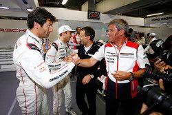 Обладатели поула - Тимо Бернхард, Марк Уэббер, Брендон Хартли, Porsche Team