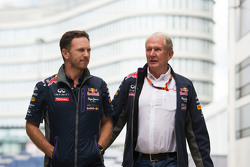 Christian Horner, Red Bull Racing, Teamchef, mit Dr. Helmut Marko, Red Bull, Motorsport-Berater