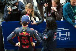 Max Verstappen, Scuderia Toro Rosso, avec les médias