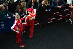 Sebastian Vettel, Ferrari, avec les médias