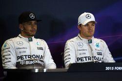 Lewis Hamilton, Mercedes AMG F1 et Nico Rosberg, Mercedes AMG F1 en conférence de presse