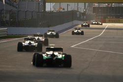 GP2 cars down the main straight