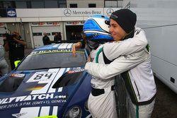 Ganadores de la pole #84 Bentley Team HTP Bentley Continental GT3: Maximilian Buhk, Vincent Abril