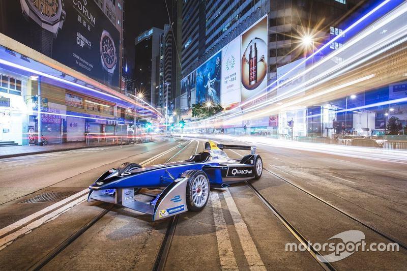 Formula E auto en Hong Kong