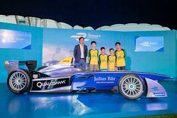 Formel-E-Auto in Hongkong mit Nelson Piquet Jr.