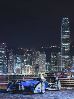 Formula E cars take over downtown Hong Kong